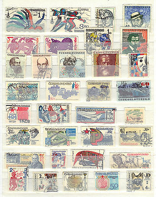 CZECHOSLOVAKIA Old Stamp Collection  USED REF:E416