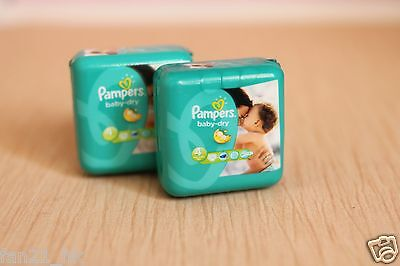 Accessories Dollhouse Miniature 2PCS  Pamper baby-dry disposable diaper   # 214