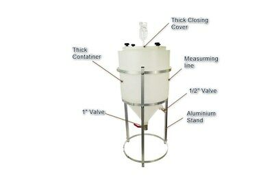 Conical Fermenter tank with Stand 46 L Winemaking Homebrewing Beer Wine