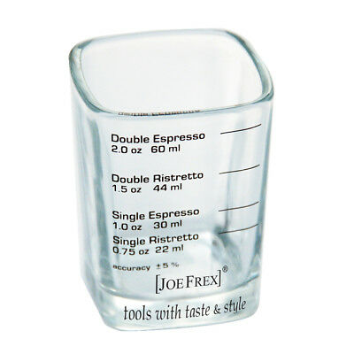 JOE FREX LINES GLASS JUG ESPRESSO RISTRETTO MEASURE 22/30/44/60 ml 1/2 oz