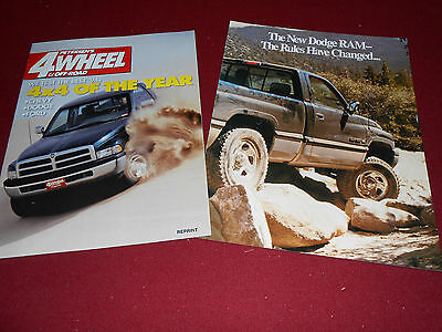 2 DIFFERENT 1994 DODGE RAM 4x4 PICKUP TRUCK BROCHURES, CATALOGS for 1 Low Price!