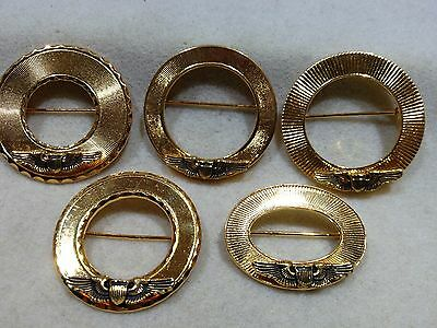Lot of 5 Different 1970's Vintage Air Force Pilot Wings Homefront Pins