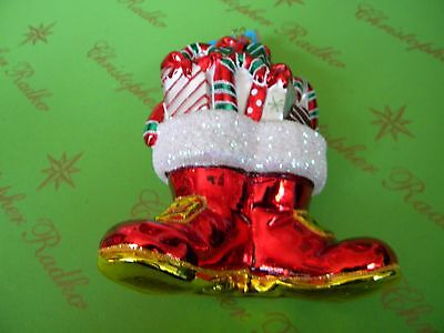Christopher Radko Red Shoes Glass Ornament