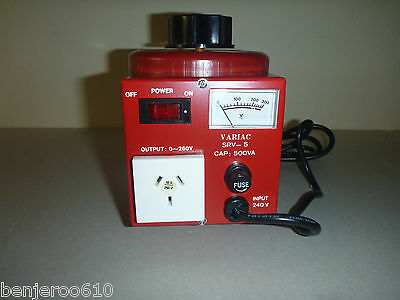 0-260VAC Variable Laboratory Autotransformer (VARIAC) POWERTECH 2 amp WARRANTY!