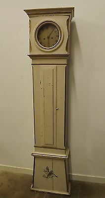 ANTIQUE LATE C19th LONGCASE GRANDFATHER BORNHOLM DANISH CLOCK PAINTED NEEDS TLC