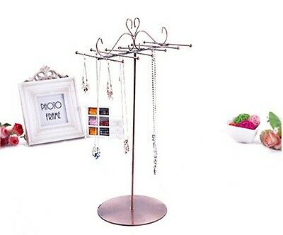 New Arrival Heart Jewelry Decal 12 Hooks Necklace Display Stand Holder Rack Free