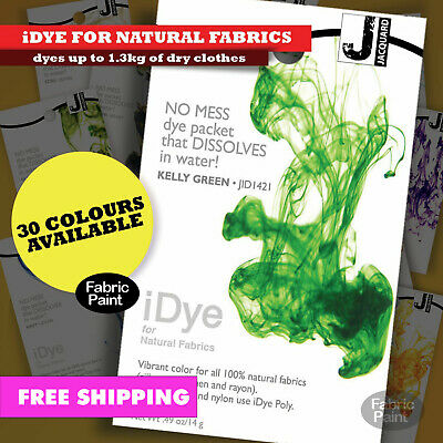 NEW Jacquard iDye for natural fabrics-cotton rayon-dyes up to 1.3kg of dry cloth