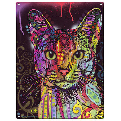 Abyssinian Cat Dean Russo Pop Art Metal Sign Pet Steel Wall Decor 12 x 16