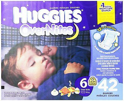 Huggies Overnites Diapers, Size 6, 42 Count - Free Shipping!