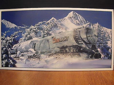 """MAN CAVE COORS LIGHT """"THE SILVER BULLET"""" METAL SIGN 9 X 16"""