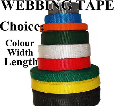 Webbing Strapping Tape Strap Various Colors Decoration Lengths Polypropylene