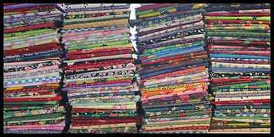 HUGE LOT ASSORTED FAT QUARTERS (40) QUILT SHOP QUALITY - FREE SHIPPING!