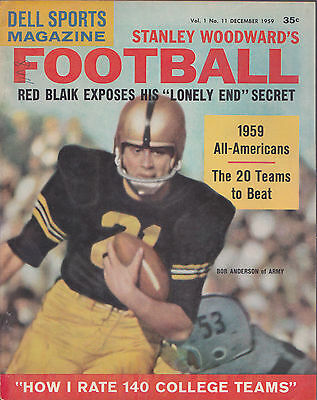 DELL SPORTS STANLEY WOODWARD'S FOOTBALL MAGAZINE- DECEMBER, 1959- VINTAGE