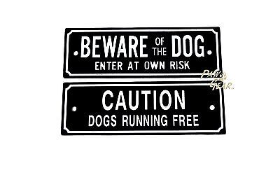 Beware of the Dog Sign New Gate Door Gardening Warning Plastic Wall Caution Sign