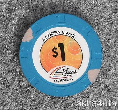 $1 Plaza Casino - A Modern Classic - Las Vegas, Nevada House Chip Free Shipping
