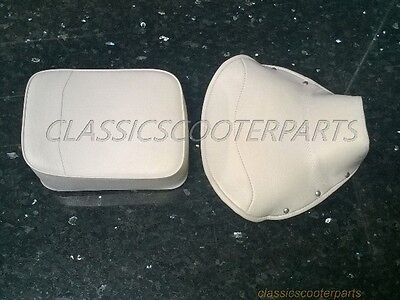 Vespa VNA VNB VBA VBB front seat saddle WHITE COVER  IMPERFECT Pls READ !! C0004