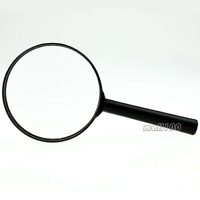 Black Handle Magnifier Plastic Rim Clear Lensed Lens Magnifying Glass Reading