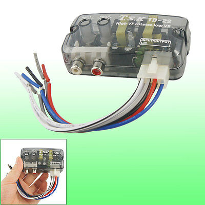 High to Low Line Out 2 RCA Socket Auto Car Speaker Level Converter