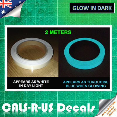 Luminous Turquoise glow in the dark sticker tape with Water Resistant Film 2m