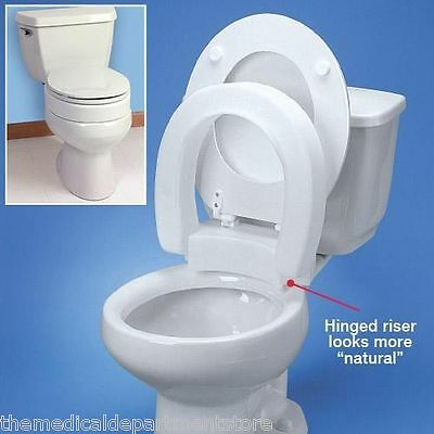 "Standard Hinged Elevated Toilet Seat -  3.5"" For ""Round Toilets"""