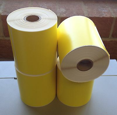 YELLOW 4 Rolls 4x6 Direct Thermal Labels Rolls 250 / 1000. For Eltron Zebra 2844