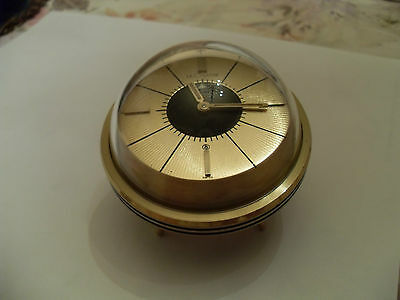 WOW! Just Reduced Rare Jeweled LeCoultre Space Age Alarm Clock 8 Day Swiss