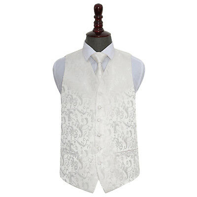 New Dqt Passion Ivory Men's Wedding Waistcoat & Tie Set