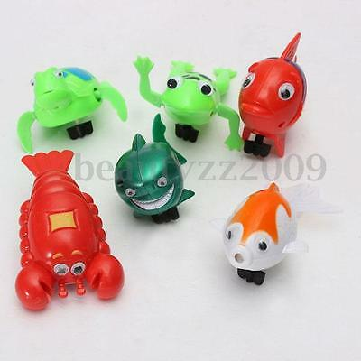 Cute Wind Up Moving Swimming Toy Goldfish Bath Turtle Cartoon Frog Fish Play Kid