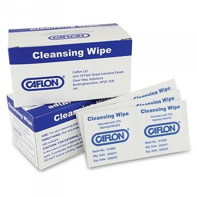 Cleansing Wipes Before Piercing Ear Ears Studs Antiseptic Wipes Box 100 Caflon