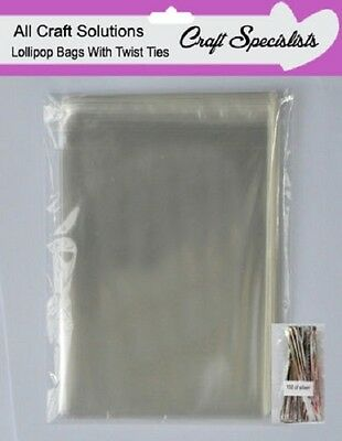"""Quality 3"""" X 5"""" Clear Cellophane Lollipop Bags / Display Bags/cookies/sweets"""