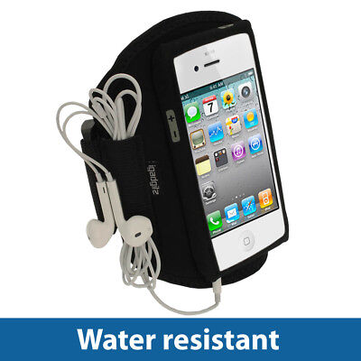 Black Water Resistant Sports Gym Jogging Armband for New Apple iPhone 5 5S 5C