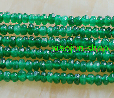 Natural 2x4mm Faceted Green Emerald Gemstone Abacus Loose Beads 15'' AAA