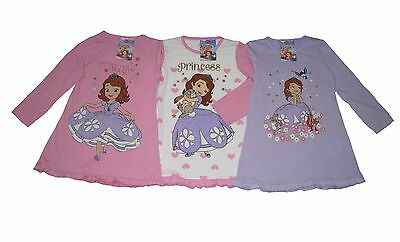 Girls Nightie Pyjamas Disney Princess Sofia Long Sleeved