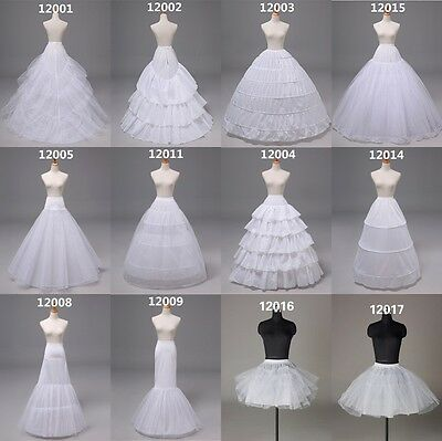 Trailing/Mermaid/A-Line Wedding Ball Gown Petticoat Slips Underskirts Crinoline