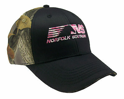 Norfolk Southern Camouflage / Pink Railroad Embroidered Cap Hat #40-0068CP