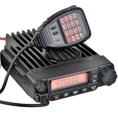 60W High Power mobile ham radio with DTMF Microphone USB Programming cable