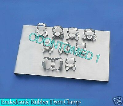 Endodontic Rubber Dam Clamp With Tray Surgical Dental Instruments