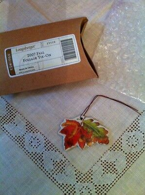 Longaberger 2007 Fall Foliage Autumn Leaves Basket Charm Tie-on New Box Retired