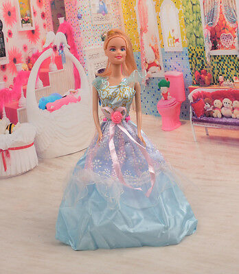 2014 Hot style Fashion Handmade princess  party Clothes dress For Noble Doll D30