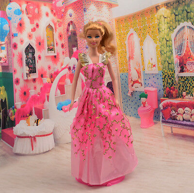 2014 Hot style Fashion Handmade princess  party Clothes dress For Noble Doll D28