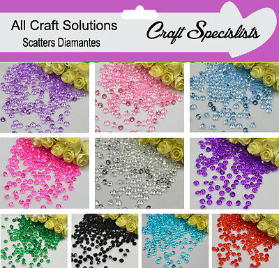 1000 Scatter Shinny Crystals / Diamond Table Confetti / Wedding Decoration