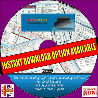 Accounts Book Keeping Complete Software Package Business/personal Cd Vat Tax Etc
