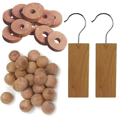 Cedar Wood Piece Set- Natural Moth Insect Deterrent & Repellent Fresh Clothes