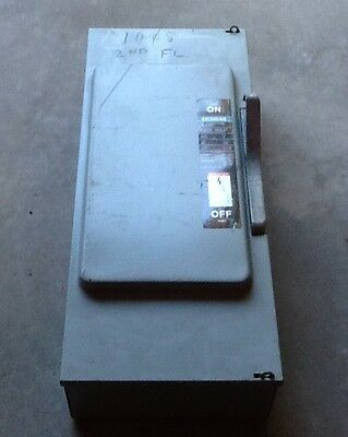 Siemens ITE General Duty Enclosed Switch 200A 240V 3PH JN424