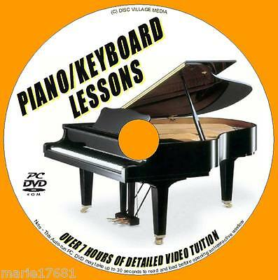Learn To Play Keyboard Piano Easy To Follow 7+ Hrs Piano Tuition Pc Dvd-Rom New