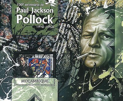Mozambique 2012 Stamps, MOZ1238D 100th Ann Paul Jackson Pollock 1912-1956,Art