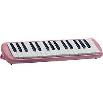 Stagg MELOSTA32 Melodica Reed Wind Piano Plastic Keyboard Pink With Carry Case
