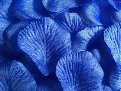 1000 x ROYAL BLUE SILK ROSE PETALS WEDDING CONFETTI TABLE DECORATION UK SELLER