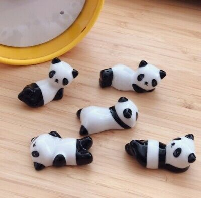 Cute Panda Chopstick Rest Novelty Lovely Kawaii Gift China Set of 1 ,2 or 4 UK