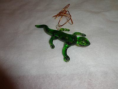 Hanging Lizard Figurine of Blown Glass Crystal